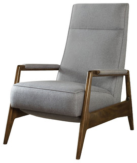 Vanguard Furniture Woodley Recliner   Midcentury   Recliner Chairs   By  Benjamin Rugs And Furniture