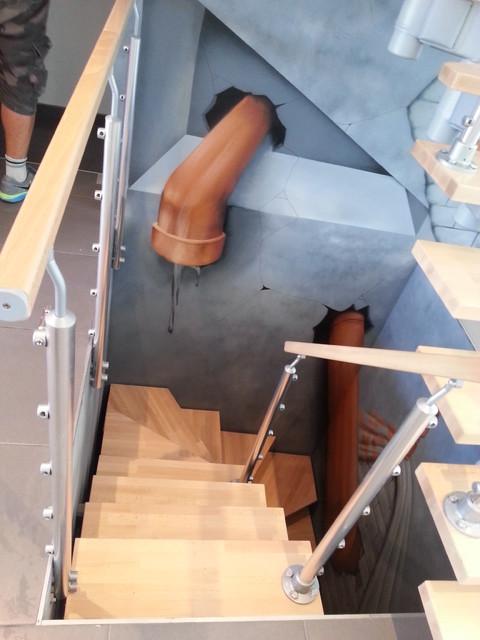 Decoration cage d\'escalier particulier villa