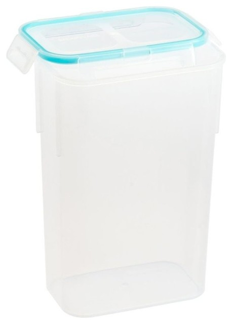 Airtight Plastic Food Storage Container, 10 Cup, Rectangle.