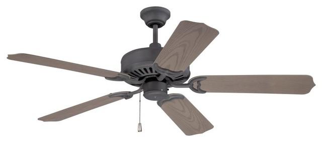 Craftmade K11240 Porch Fan 52 5-Blade Indoor/outdoor Ceiling Fan, Oiled Bronze.