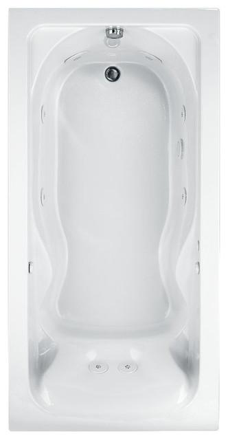 "American Standard Bathtub Cadet, White, 40.5""x76.25""x24.5""."
