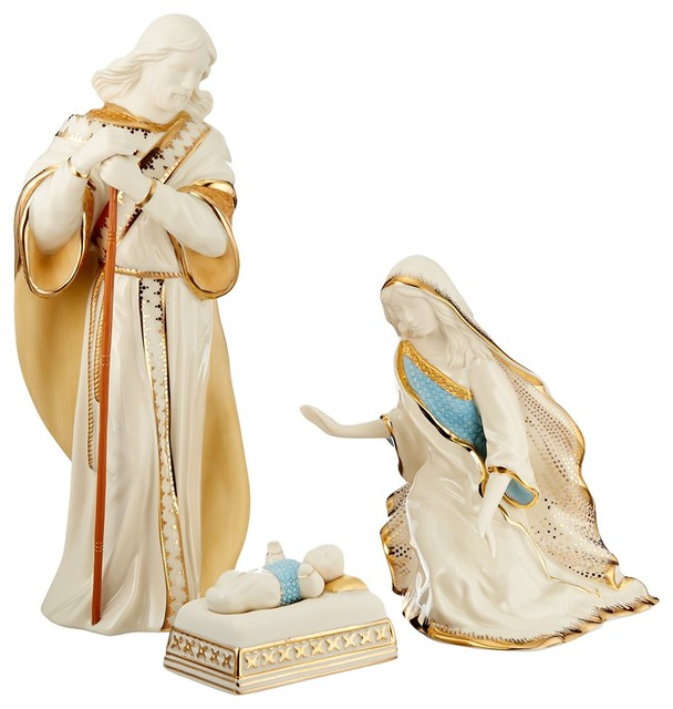 Lenox First Blessing Nativity Holy Family, 3-Piece Set.
