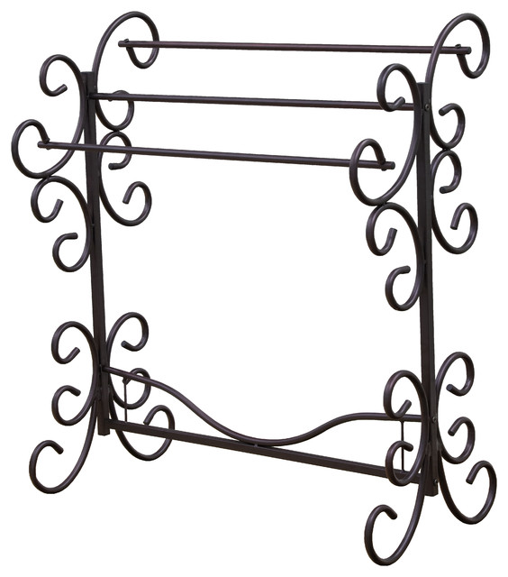 Metal Scroll Quilt Rack.