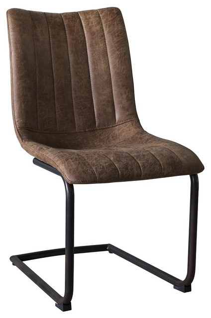 Edington Cantilever Dining Chairs, Set of 2, Brown