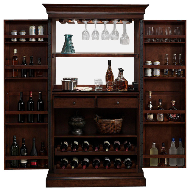 American Heritage American Heritage Angelina Bar In Navajo Wine And Bar Cabinets Houzz