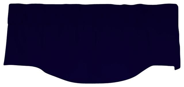 Medallion Lined Valance In Designer Pebbletex Fabric, Midnight.