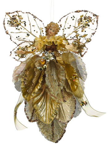 Silk Plants Direct Butterfly Fairy Ornament, Pack of 6, Gold - Silk Plants Direct Butterfly Fairy Ornament (Pack Of 6