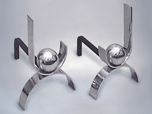 3002 Andirons contemporary fireplace accessories