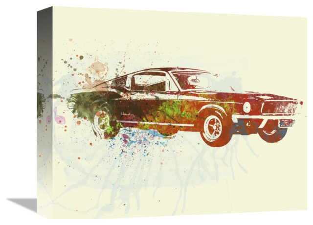 Vintage Ford Mustang Classic Car Large Poster Art Print in Card or Canvas