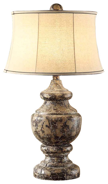 antique corbel resin table lamp 34 5 rustic wood and antique black finish eclectic table. Black Bedroom Furniture Sets. Home Design Ideas