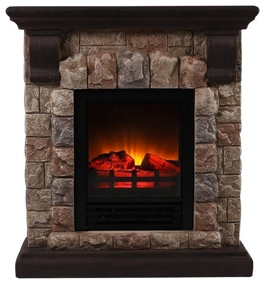 Faux Stone Portable Fireplace, Small.