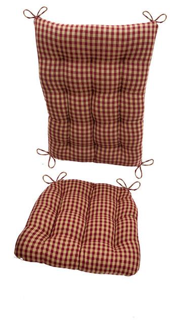 Checkers Red Amp Tan Checkered Rocking Chair Cushions Latex