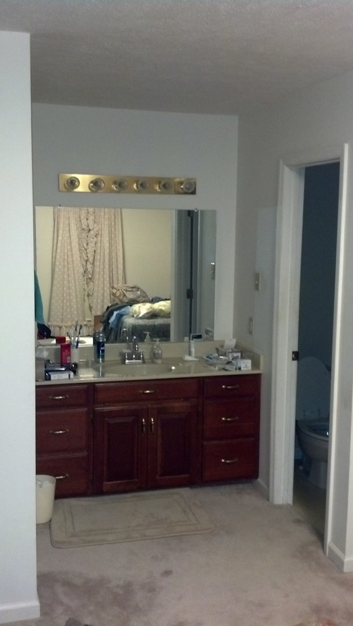 Help with bathroom sink and vanity located in master bedroom Vanity for master bedroom