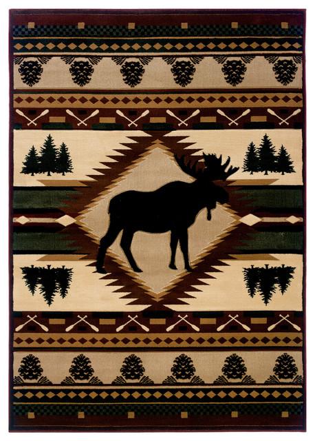 Moose Wilderness Rug, 10&x27;6x7&x27;10.