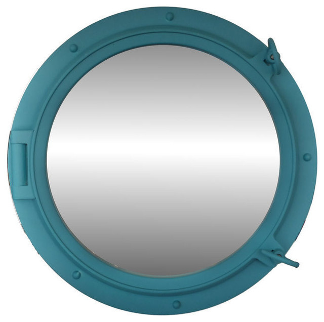 Shop houzz navigation bay porthole mirror 24 wall mirrors for Porthole style mirror