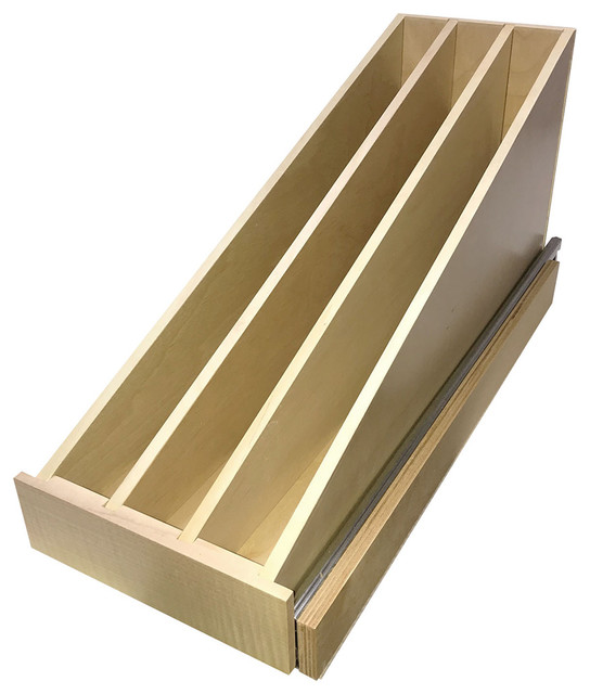 Omega National Wide Wood Pullout Tray Divider, Tray Divider Pullout: 8.