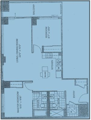 Furniture layout for 10 ft wide condo livingdining room