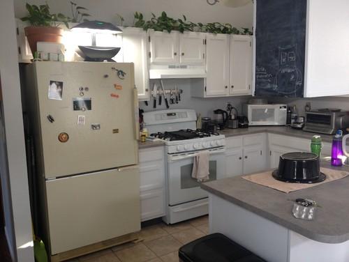 white fridge in kitchen. white fridge in kitchen c