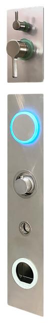 Steam shower - Serene Steam - Sensory Splash, Brushed Stainless