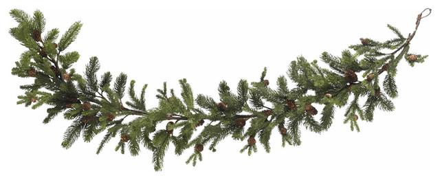 "Nearly Natural 60"" Pine And Pinecone Garland."
