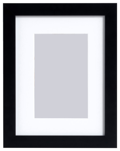 Matted Gallery Expressions Styrene Frame, Black, 4\