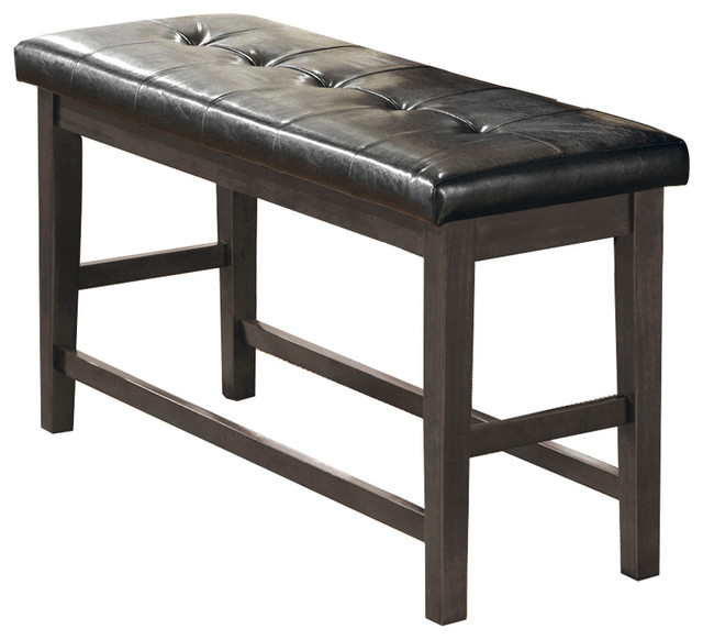 Viviana Counter Height Bench Gray Contemporary Dining
