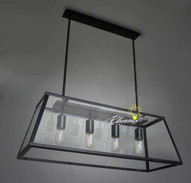 Iron And Glass Pendant Lighting