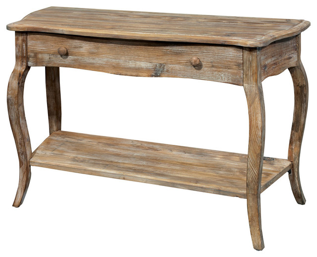 Rustic Reclaimed Media Console Table Driftwood