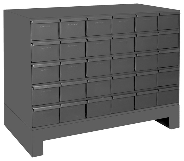 Durham 30 Drawer Cabinet 11 Asy. Unit, Gray.
