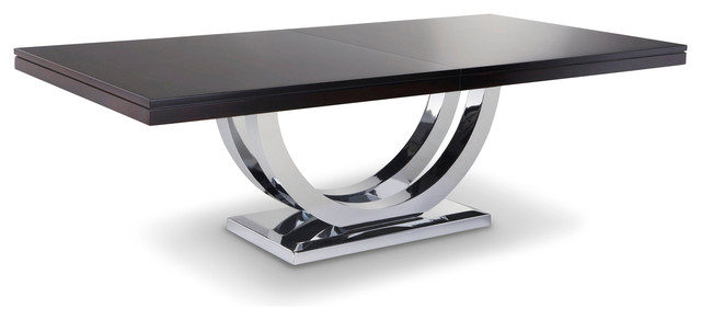 Metro Chrome Base Dining Table Contemporary Dining Tables Other By Woodcraft Furniture