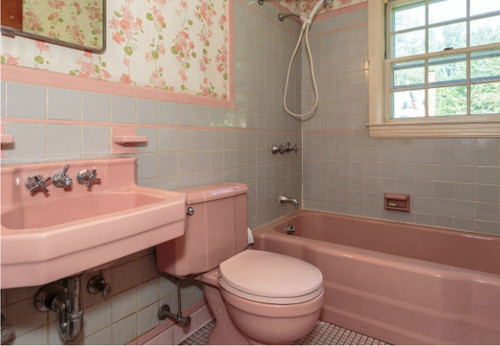 1950u0027s Pink Bathroom Challenge