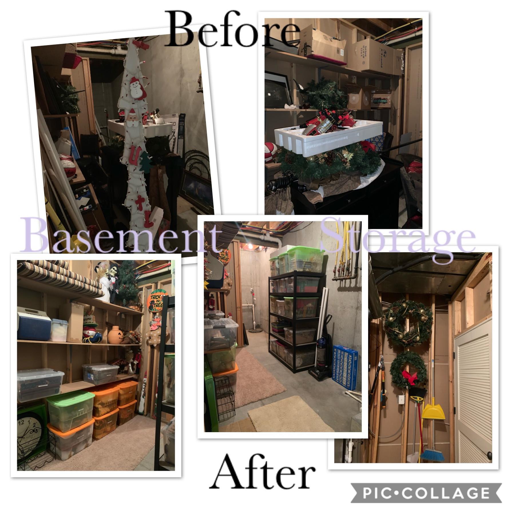 Basement storage rooms