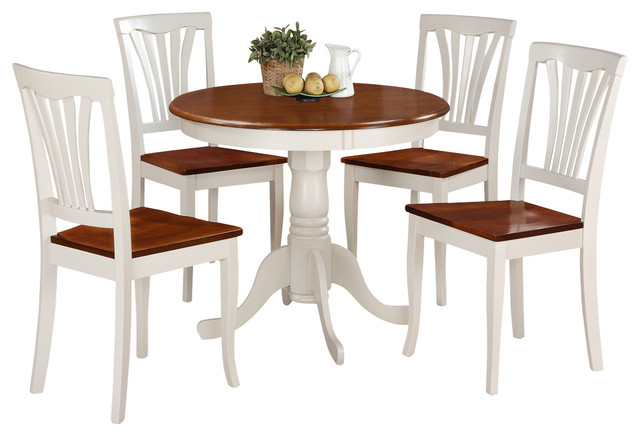 East west furniture anav w kitchen table set view in for 4 piece kitchen table set