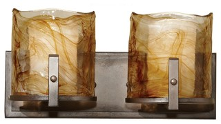 feiss vs18902 rbz aris 2 light roman bronze bathroom wall 18902 | transitional bathroom vanity lighting