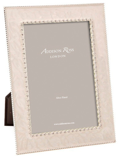 addison ross royal diamante cream enamel frames 4x6 contemporary picture frames - Enamel Picture Frames