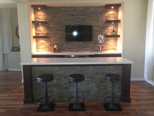 Turning Formal Dining Room Into Bar Before And After A Dry