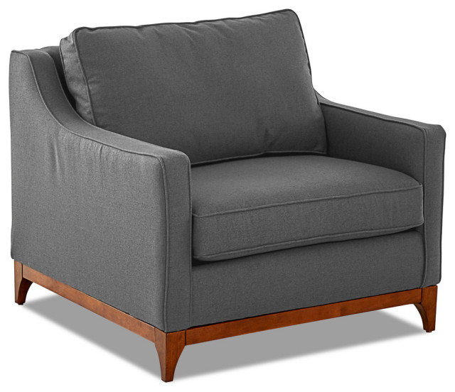 Avenue 405 Ansley Wood Base Accent Chair Transitional