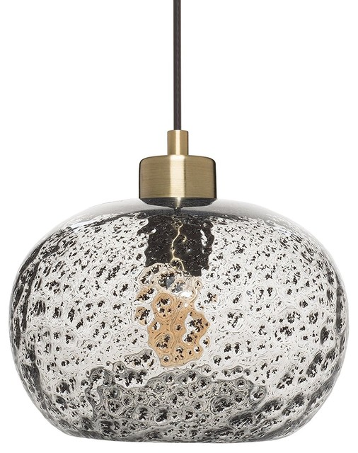 Rustic Seeded Glass Drop Ceiling Light Hanging Light With Black Sand Powder.