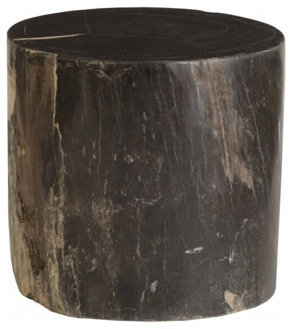 Enjoyable 22 T Stool Solid Heavy Petrified Wood Black Polish Hand Crafted One Of A Kind Gmtry Best Dining Table And Chair Ideas Images Gmtryco
