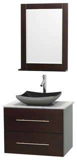 Centra 30 Espresso Vanity 24 Mirror Contemporary Bathroom Va