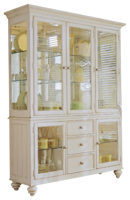 american drew camdenlight china complete in white painted cabinets