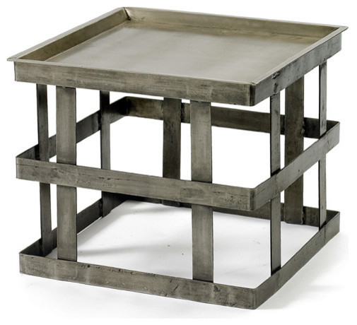 Vintage style farmhouse occasional table industrial for Industrial farmhouse coffee table