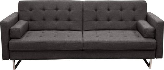 Diamond sofa diamond sofa opus convertible tufted sofa for Button tufted chaise settee velvet aubergine