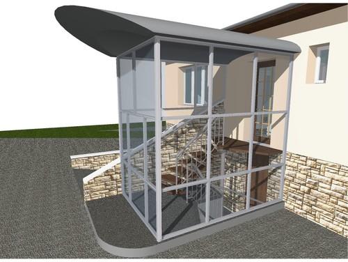 Sas tampon entr e liaison habitation garage for Entree de maison avec escalier