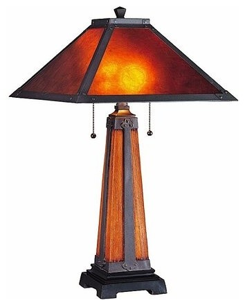 Lite Source LS 20474 2 Light Table Lamp Craftsman Table Lamps