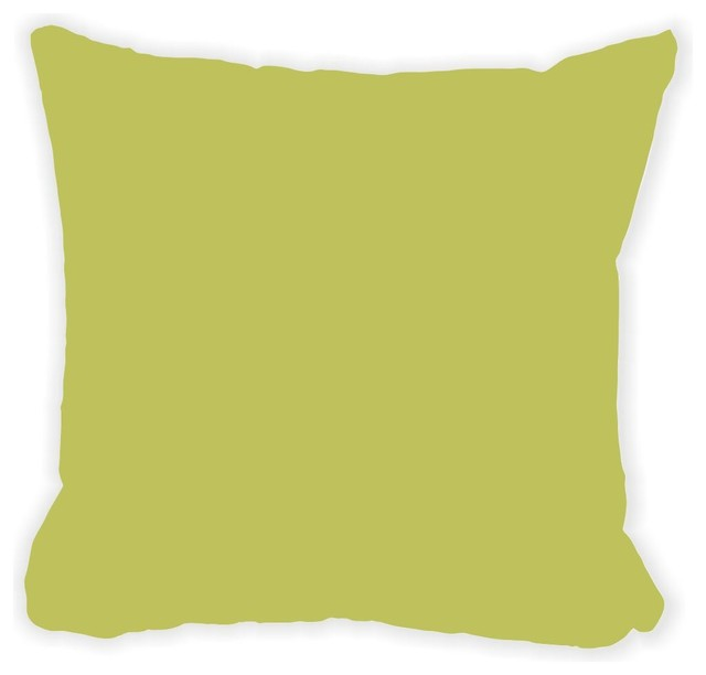 Moss Green Fall Winter Microfiber Throw Pillow - Contemporary - Decorative Pillows - by Rikki ...