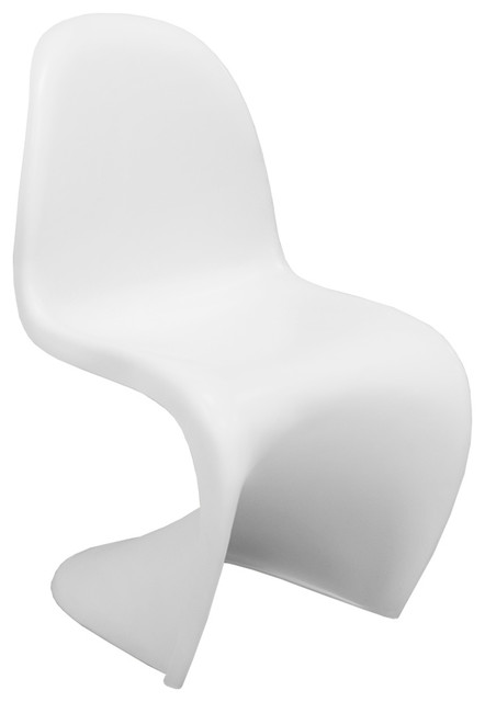 EZ Mod Panton Style S Chair White/Matte  sc 1 st  Houzz & EZ Mod Panton Style S Chair - Contemporary - Outdoor Dining Chairs ...