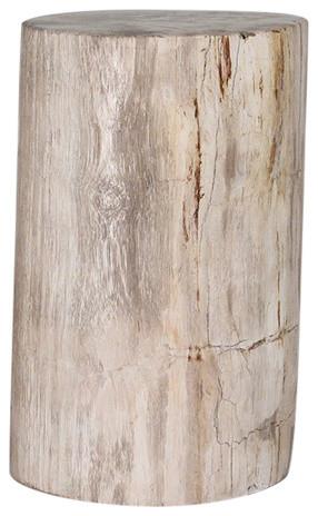 Genuine Petrified Wood Log Table, Natural.