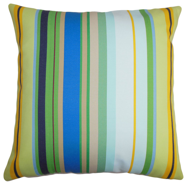 Laird Stripes Bedding Sham Blue White Euro Contemporary Pillowcases And Shams By The