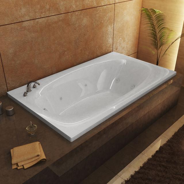 "Venzi Talia 42""x66"" Rectangular Whirlpool Jetted Bathtub, Left Drain Placement."